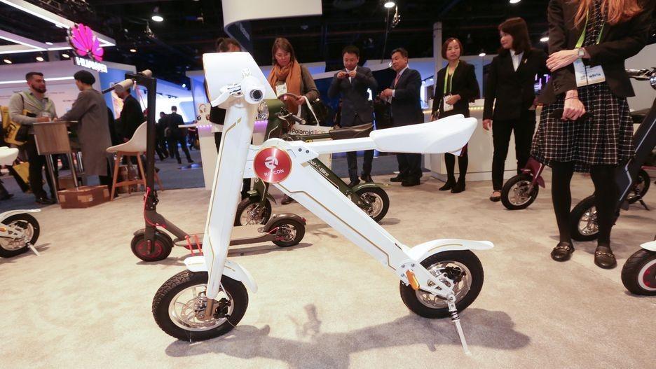 高颜值科技感:Raycon折叠电动车亮相CES