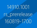 Windows 10�°�14910�ع�