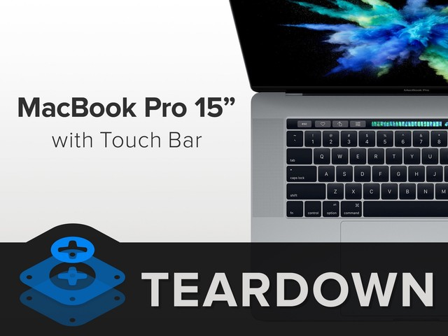 触控板如同iPad 15吋Touch Bar MBP拆解
