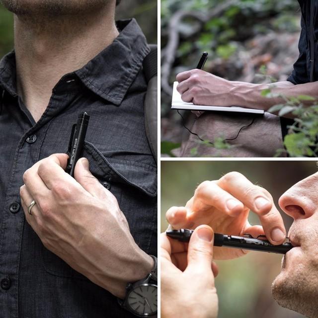 这款笔除了能够便于携带之外,还能够当成战术口哨使用。尤其是在丛林中可以方便的表示自己的位置。
